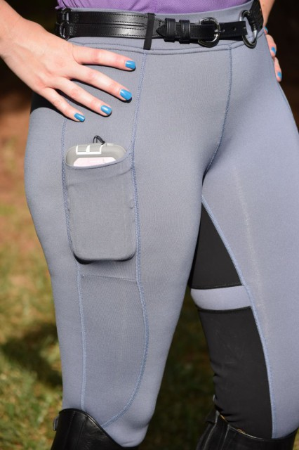 I'd be a little lost without the side pocket of the Flex Tights, which fits my large smartphone while in it's large Otterbox case. Photo by Lorraine Peachey.