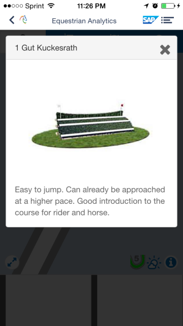 Example of course preview. Via CHIO Aachen App.