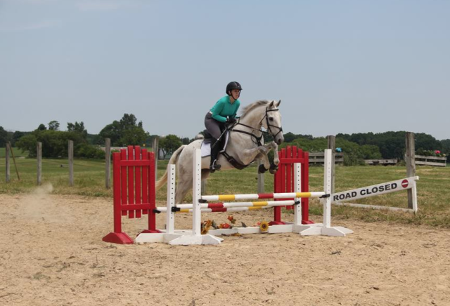 Toddy and Tracie at the Lainey Ashker clinic in June. Photo courtesy of Tracie Houle.