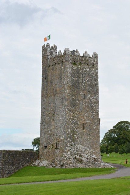 The Millstreet cross country course is built around the 15th-century Drishane Castle. Photo © Millstreet International Horse Trials.