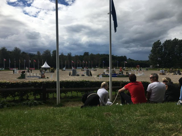 The view for today's show jumping. Photo via Lillian Heard.