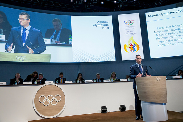 IOC Sports Director Kit McConnell at the 128th IOC Session. Photo courtesy of IOC Media.