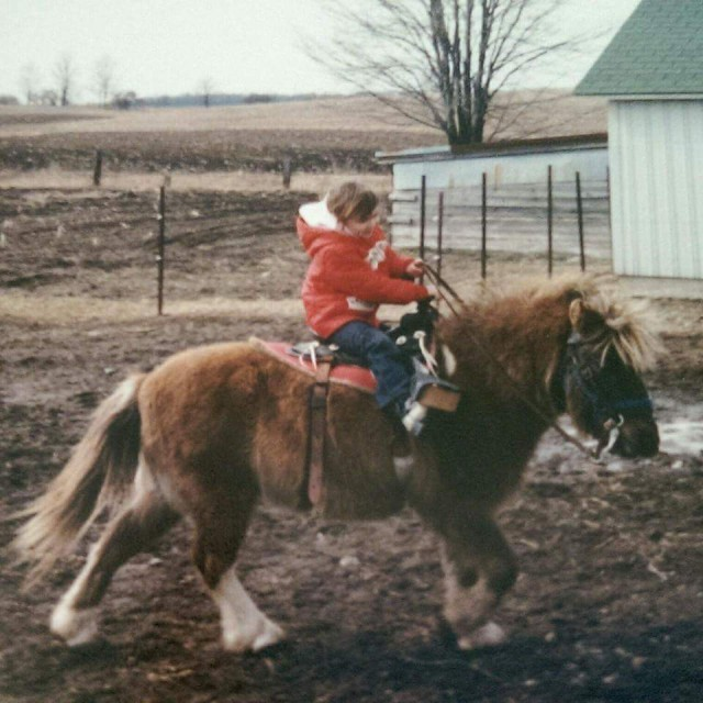 Maria, age 4, riding Pretty Boy, a rescue from Alabama. Photo courtesy of Maria Perkins.