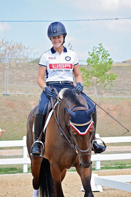 U.S. team traveling reserve Lynn Symansky and Donner. Photo by Jenni Autry.
