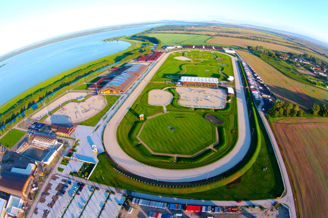 Aerial view of Samorin in Slovakia. Photo © Samorin Equestrian Centre.