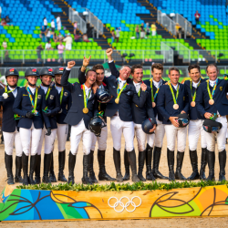Three cheers for Olympic madness! Photo: Arnd Bronkhorst/FEI