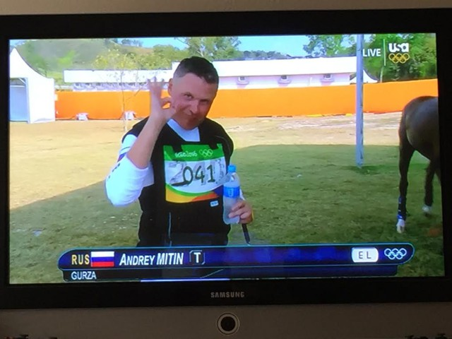 240 Forever. Andrey Mitin after his tough XC trip at the Olympics.