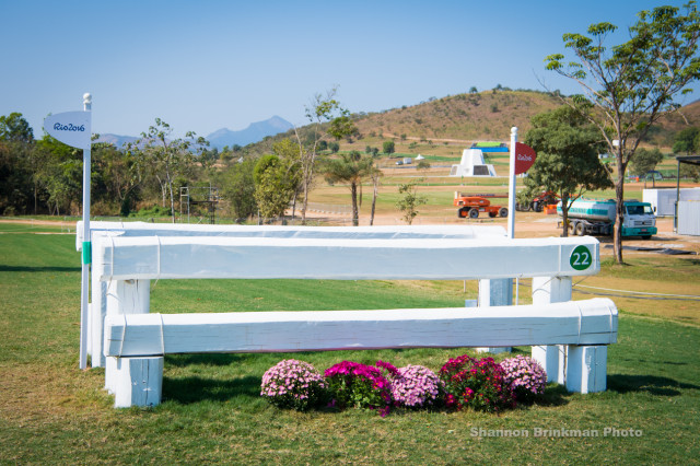 Fence 22: White Oxer. Photo by Shannon Brinkman.