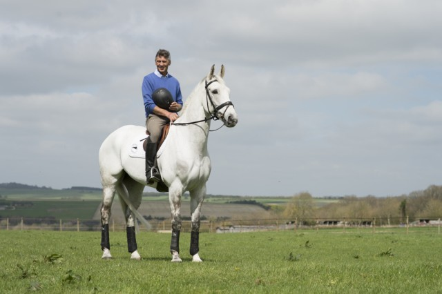 Andrew Nicholson and Avebury at Westwood Stud. Photo by Edward Whitaker/Racing Post Books.