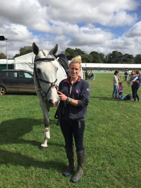 Jess Errington and Spot at Blenheim. Photo by Rosie Meade.