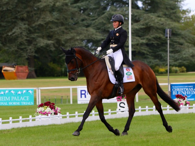 Hannah Sue Burnett and Harbour Pilot loving the #BPIHT arena Photo by Samantha Clark