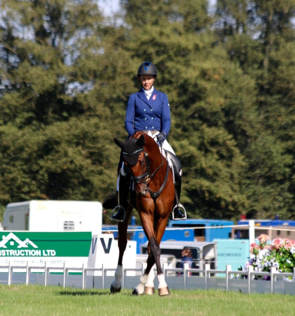 Tamie Smith and Dempey II in the CIC3* for 8 and 9 year olds at the Blenheim Palace International Horse Trials Photo by Samantha Clark