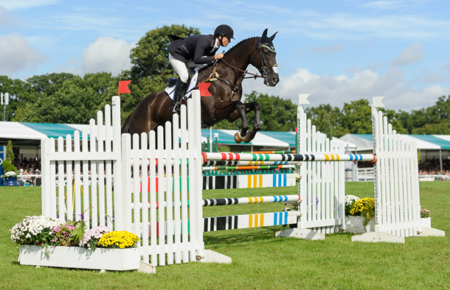 Elisa Wallace and Simply Priceless complete The Land Rover Burghley Horse Trials 2016 Photo by Nico Morgan