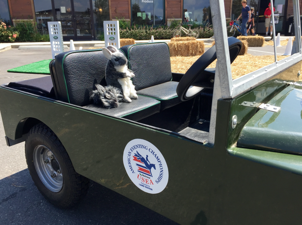 Sorry Chinch, you've still got to be able to reach the steering wheel. Maybe next year there will be a mini mini Land Rover test drive course? Photo by Leslie Wylie.