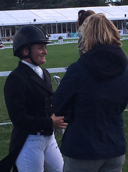 Hannah Sue Burnett chats about her wonderful test on Harbour Pilot at Blenheim yesterday. Photo via the USEF Eventing High Performance on Facebook.