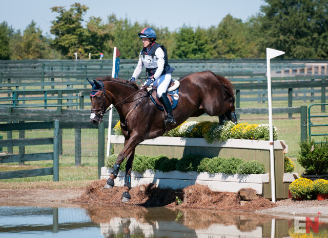 Allison Springer and Arthur, trailblazers on the Advanced course at Stable View. Photo by Leslie Threlkeld.