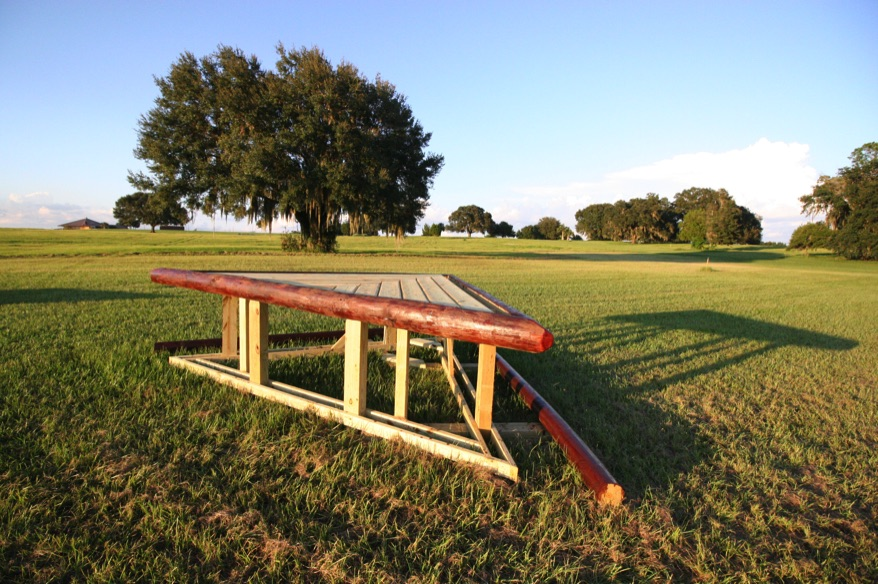 One of the many new cross-country jump built onsite. Photo courtesy of Ocala Jockey Club.