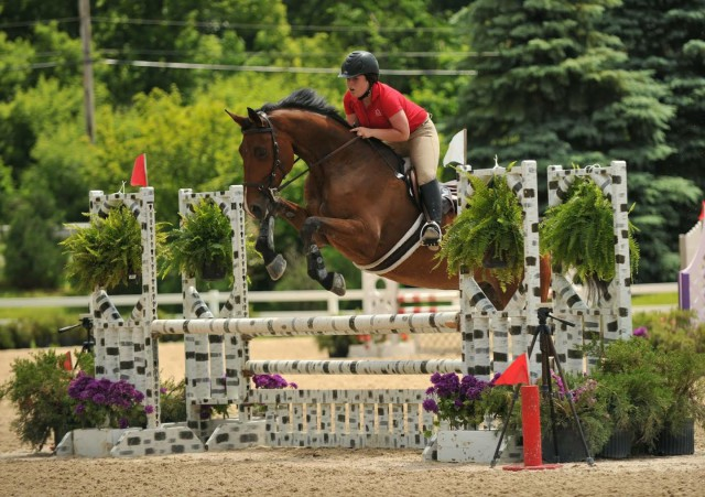 Noa Leibson riding The Great Gatsby. Photo courtesy of Ella Groner.