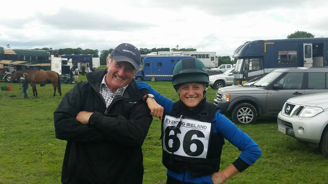 Camilla Speirs pictured with Rory Costigan, owner of Loughnavatta Cedar.