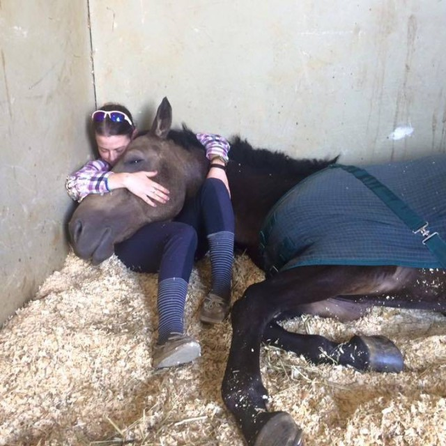Erin Freedman knows how pony snuggles work. Photo courtesy of Erin.