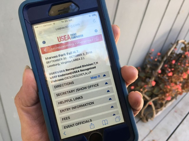 All the event and membership information you need will be at your fingertips with the USEA's new Event Companion App. Photo by Leslie Threlkeld.