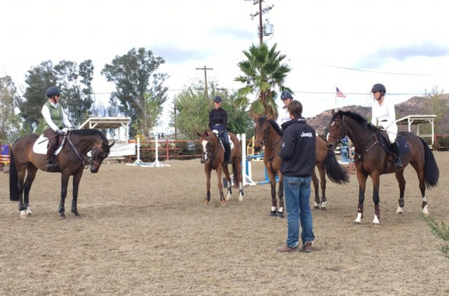 William talks to a Preliminary group at Copper Meadows. Photo via Athletux Equine.