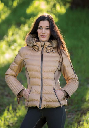One lucky reader will be staying warm and cozy this winter in a Goode Rider Luxe Parka (in Camel). Photo via Goode Rider.
