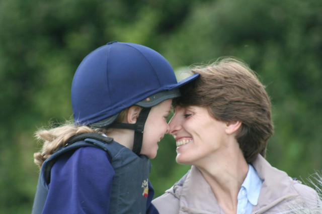 William's daughter Holly and wife Sarah at Pony Club rally. Photo by William Micklem.
