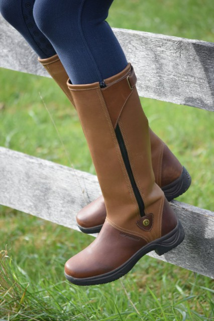 I personally love the versatility of the Wye boots. They keep my feet dry and comfortable during daily wear...But what's more, I'm happy that I can wear them right out to the barn and in the saddle. Boots that can follow my journey anywhere...now that's what I call a great pair of boots for my lifestyle! Photo by Lorraine Peachey.