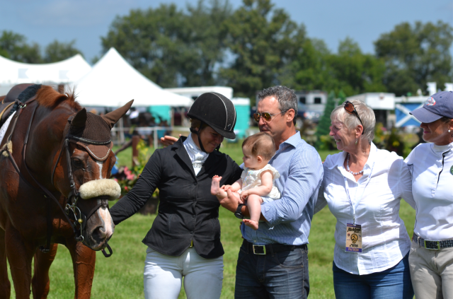 Katie Rupple with Philippa's family at Richland Horse Trials. Photo by Leslie Wylie.