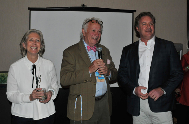 Bernadette and Jim Cogdell with Mark Bellissimo (right). Photo by Leslie Threlkeld.