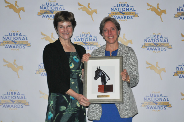 Christine Aytug's health forced her to put riding on hold, but she has remained active in the sport. She received the Ironmaster Award, which is given to which is given to an individual that exemplifies fortitude and courage. Photo by Leslie Threlkeld.