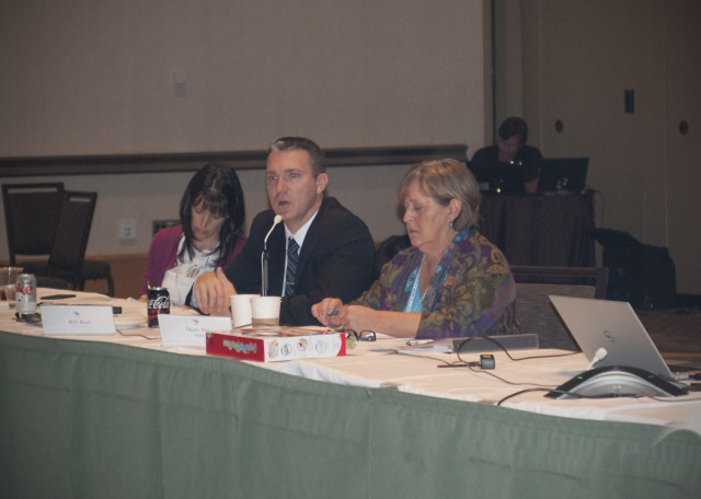 USEA CEO Rob Burk addresses the Board of Governors. Photo by Leslie Threlkeld.