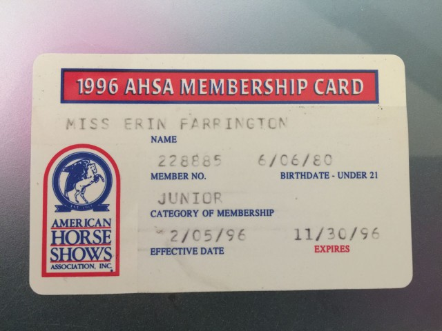Not my very first AHSA card, but still quite an old one!
