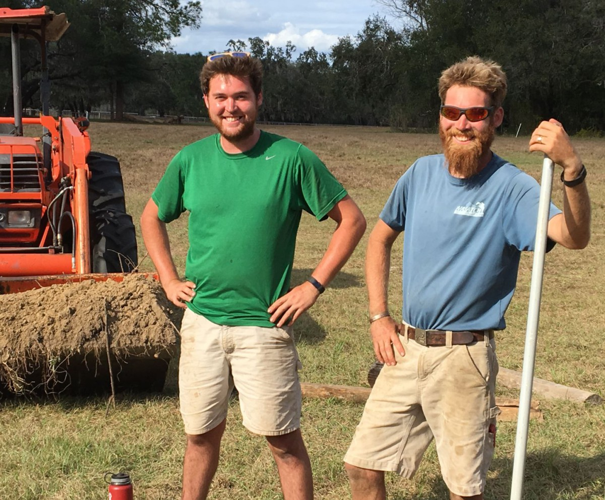 Rocking Horse course builder Traver Schick and assistant Graham Schick. Photo courtesy of Colleen Hofstetter.
