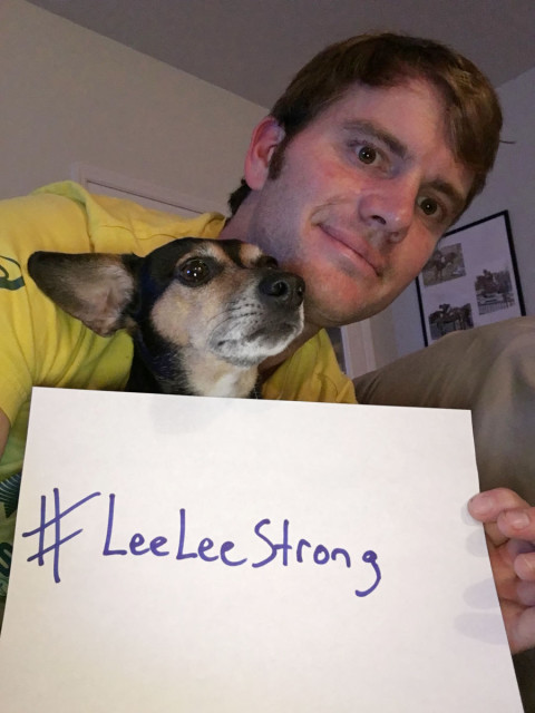 Ryan Wood and Snoopy support #leeleestrong