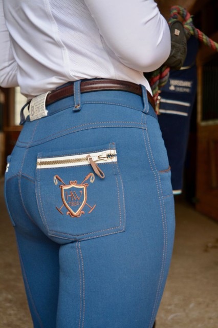A picture of the detailing on the back pockets. Photo by Owie Samuels.