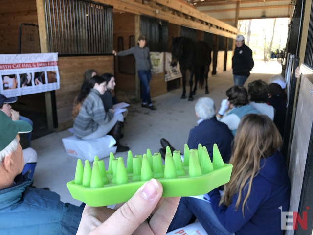 The Posture Prep is a go-to item in Emma's grooming box. Photo by Lynsey Ekema.