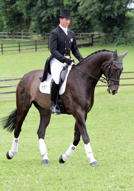 david doel Nunney dressage Nunney 2 star Dressage on Mr HiHo eventual winners of their section photo by Ian James