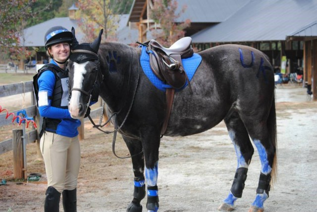 Rachel Norton and Pete during his time with the UK Eventing Team, Photo provided by Rachel Norton.