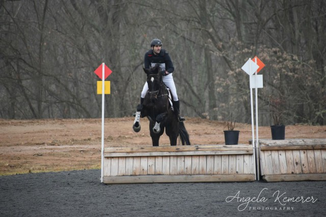 Thomas Vilmer and Chakra De La Née over the BN corner. Photo courtesy of Angela Gross.
