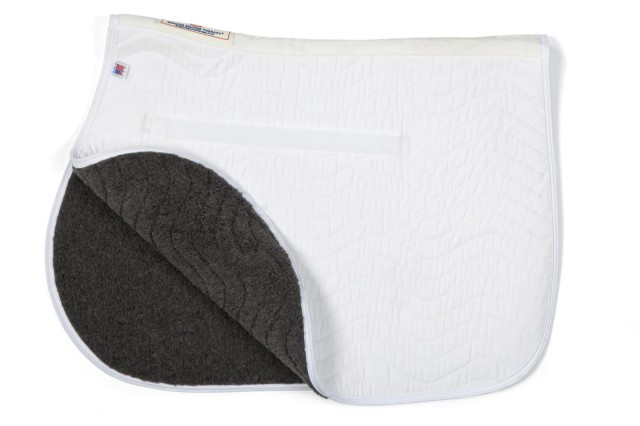The Draper Equine Therapy All Purpose Saddle Pad. Photo courtesy of Draper Therapies.