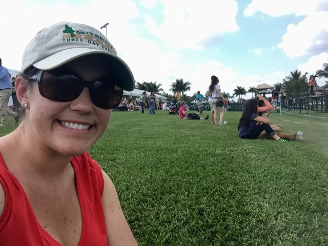 Seated and ready to watch cross country. Photo by Brooke Schafer.