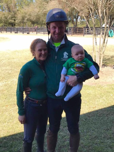 Happy St. Patrick's  Day from Marley, Tim, and Senan Bourke! Photo via Bourke Eventing on Facebook.