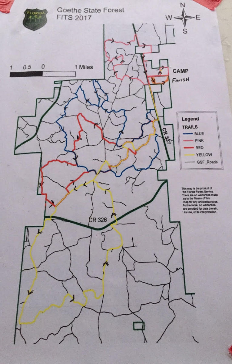 The route for the 100-mile ride. Photo by Hilda Donahue.