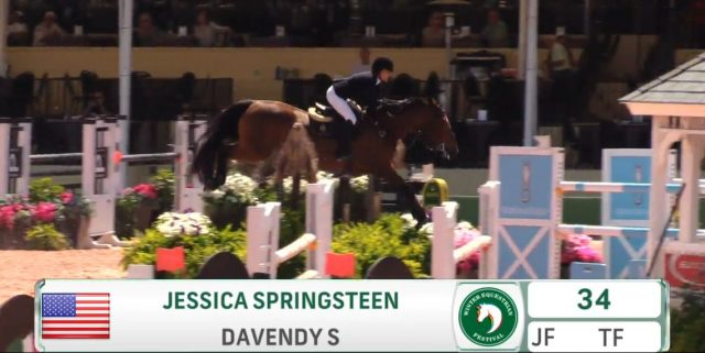 Best of JN: Jessica Springsteen Jumps the Arena Decor to
