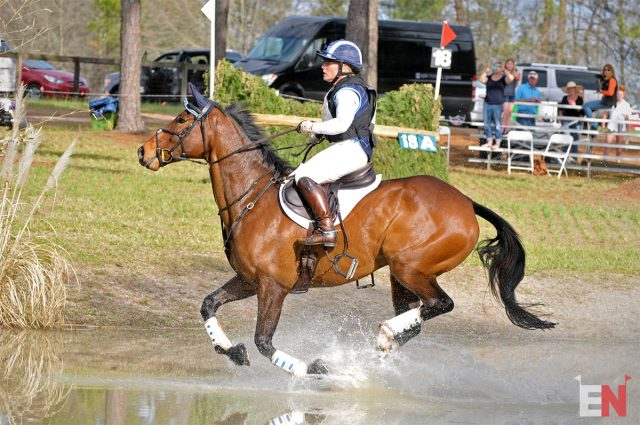 Maya Simmons (stirrup-less!) and Archie Rocks. Photo by Leslie Threlkeld.