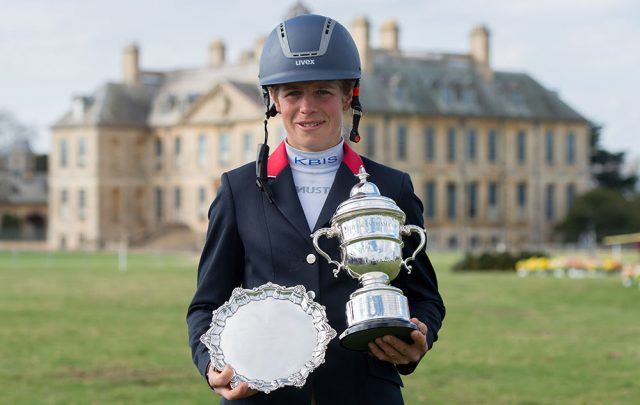 Izzy Taylor, winner of the 2017 Lycetts Grantham Cup. Photo courtesy of Belton International Horse Trials.