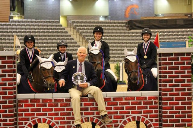 Richard Lamb and the USPC Pony Jumper Team at the 2014 USEF National Pony Jumper Championships, where they won gold in both the team and individual competitions. Photo courtesy of Richard Lamb.