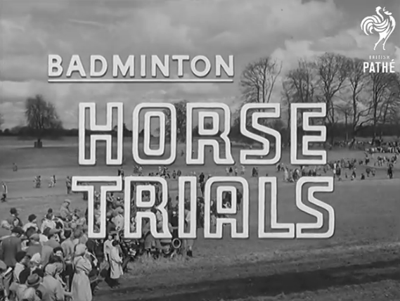Screenshot from a vintage Badminton newsreel uploaded by British Pathé.